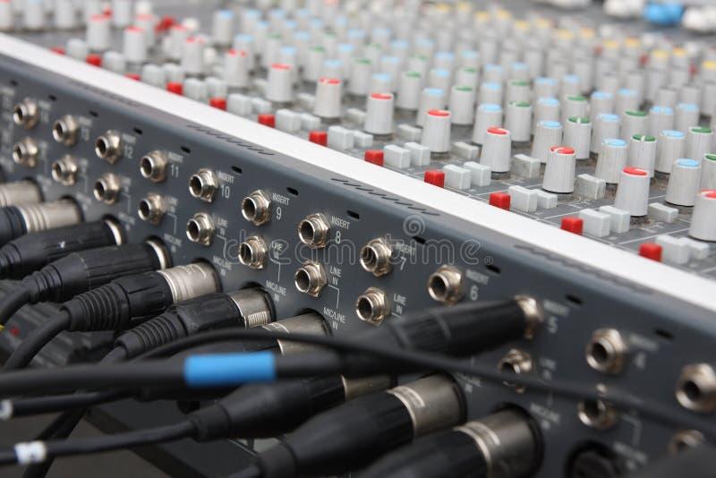 Misturador audio. fotos de stock royalty free