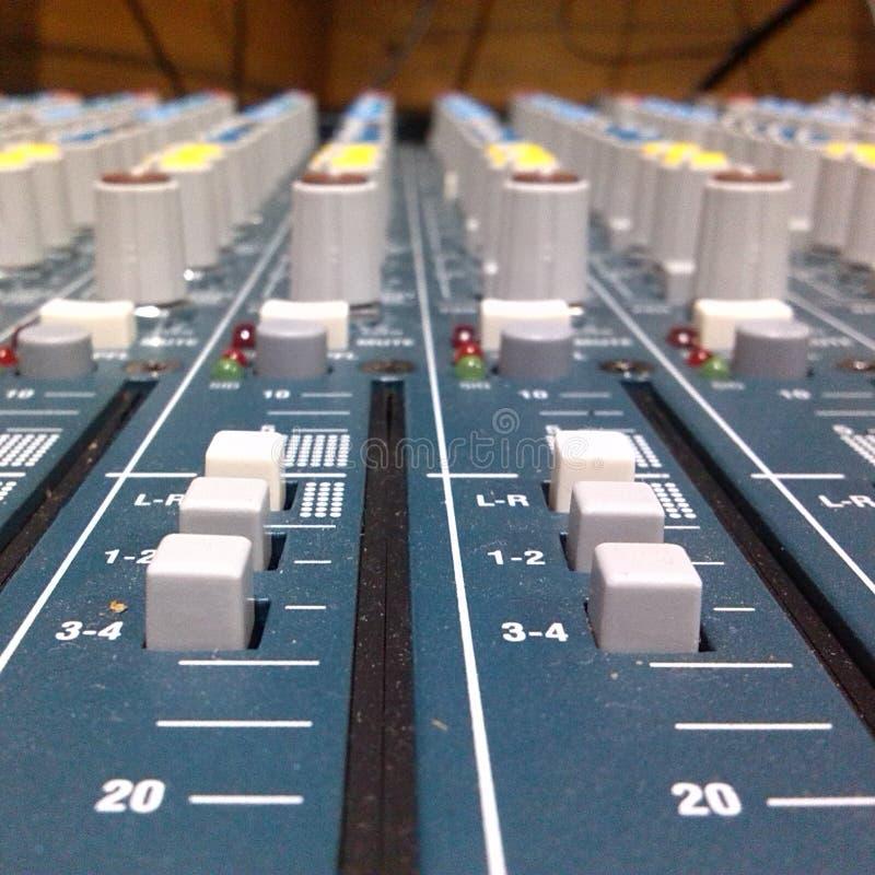 Misturador audio foto de stock royalty free