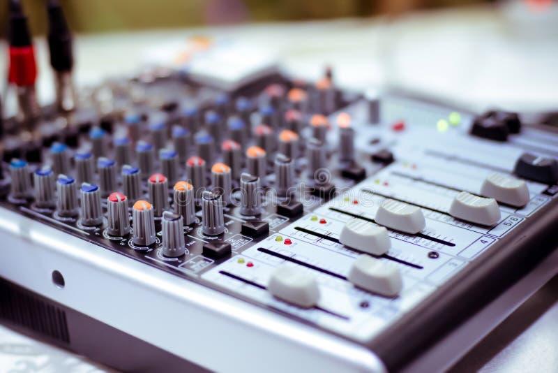 Misturador audio imagem de stock royalty free