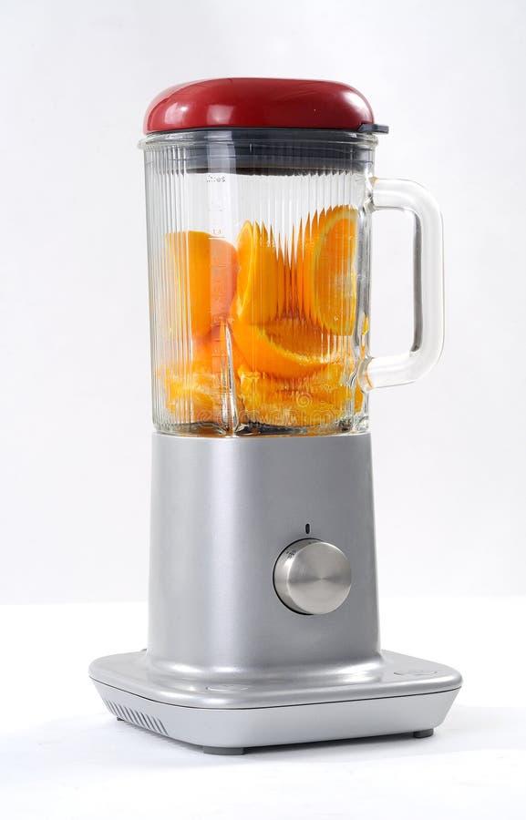 Misturador com fruta imagens de stock