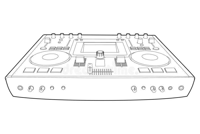Misturador do DJ ilustração do vetor