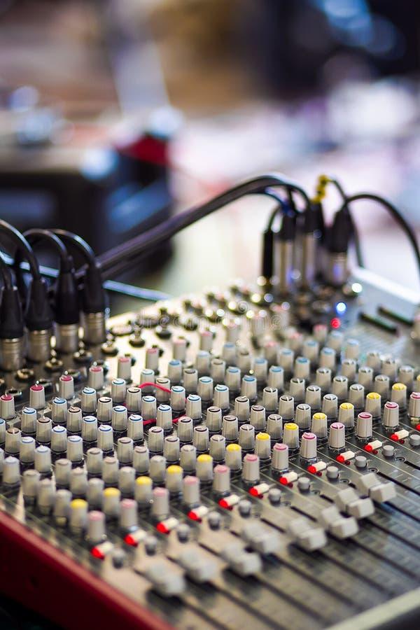 Misturador do DJ fotos de stock