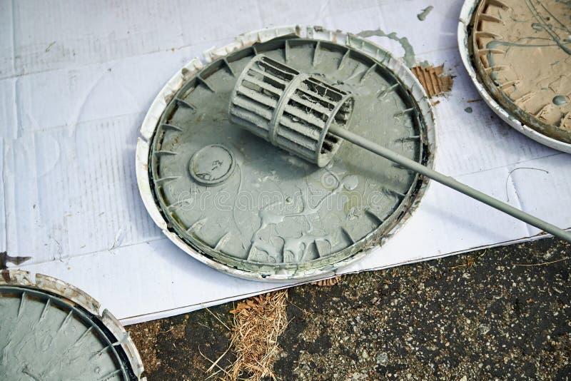 Misturador espiral para brocas imagem de stock