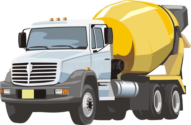 Misturador para o concreto ilustração stock