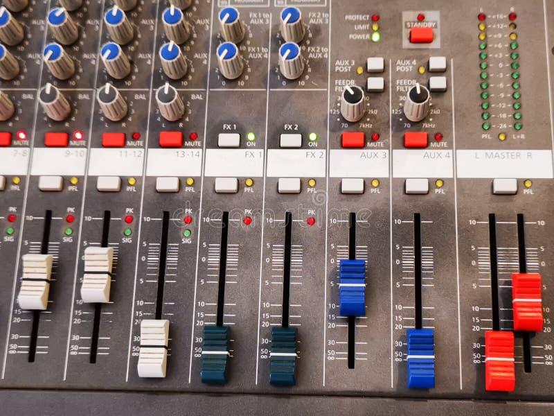 Misturador sadio - vários botões de função imagem de stock royalty free