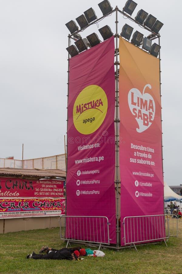 Misturafestival 2015 in Lima, Peru stock afbeeldingen