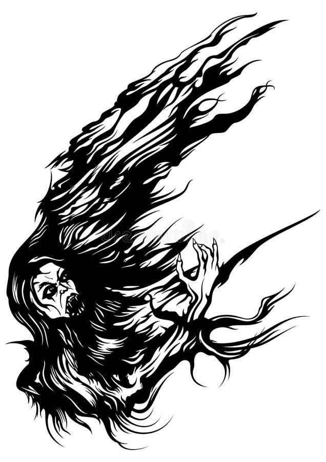 Mistvampyr stock illustrationer