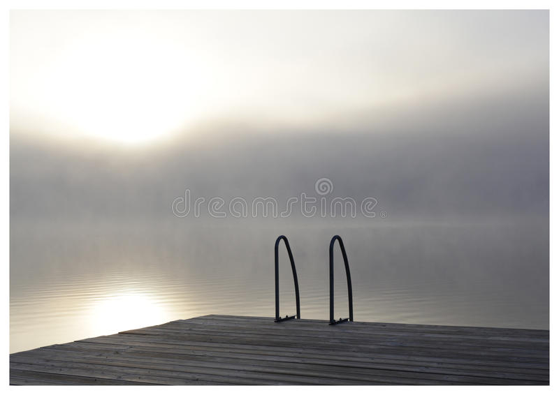 1 misty πρωί στοκ εικόνα
