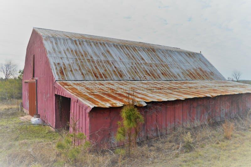 Misty barn royalty free stock photography