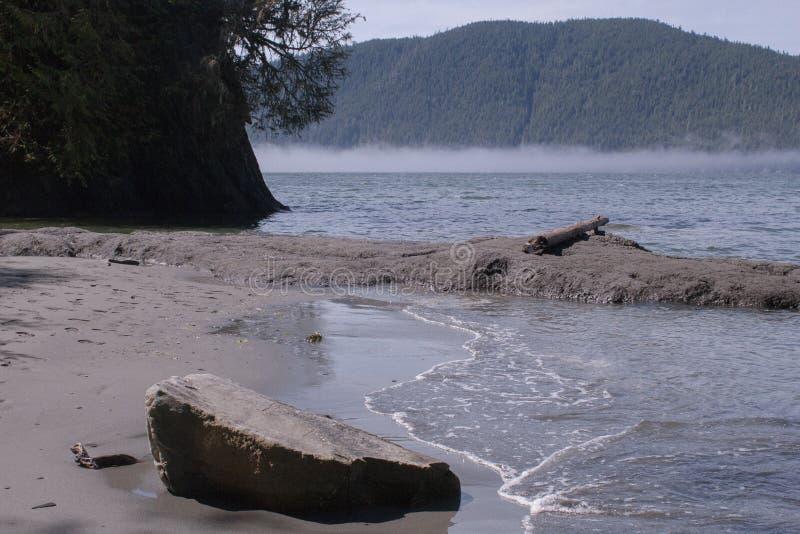 Misty Beach royalty free stock photo