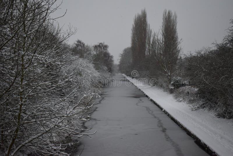 Misty Canal imagen de archivo libre de regalías