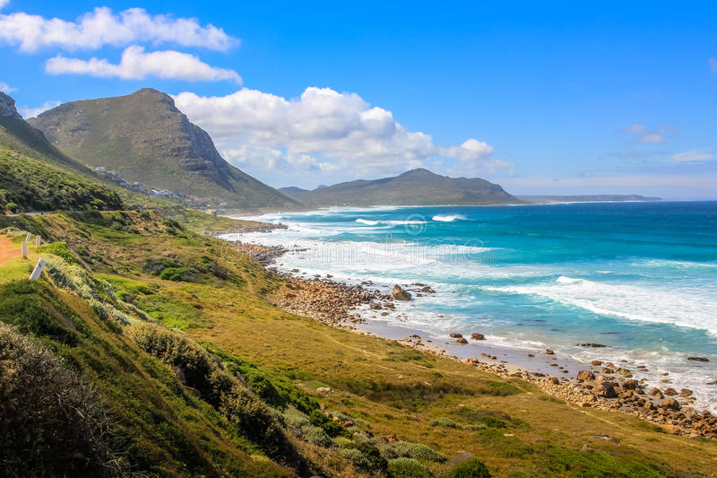 Misty Cliffs Atlantic Seaboard. Misty Cliffs, a little village between Kommetjie and Scarborough, and between mountains and the beach. Misty Cliffs is famous for royalty free stock photos