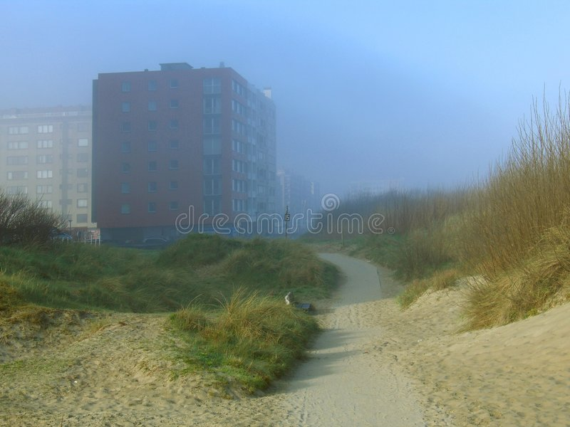 Download Misty coastal apartments stock photo. Image of building - 2253864