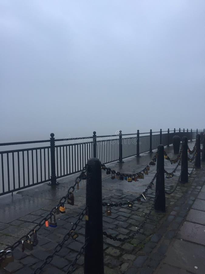 Misty Docks royaltyfri foto