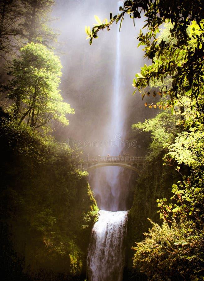 Misty Falls image libre de droits