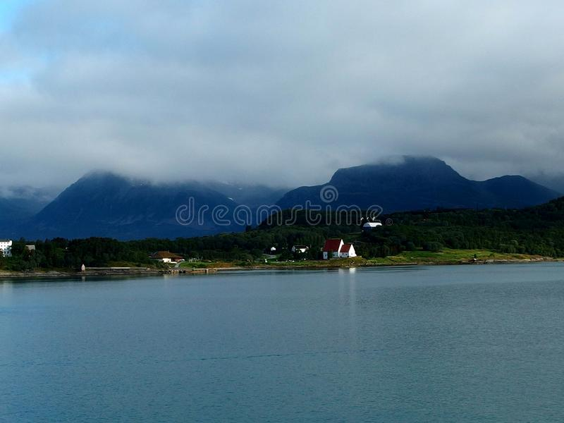 Misty fjords stock photos