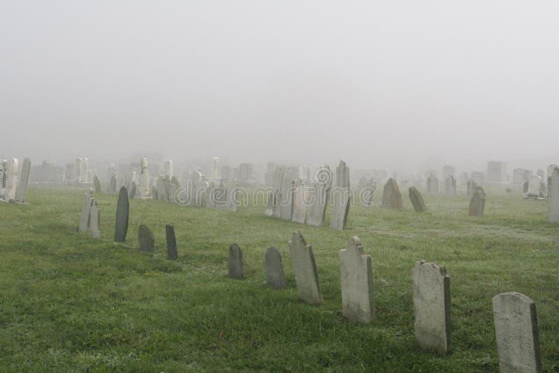 Misty Graveyard stock photos