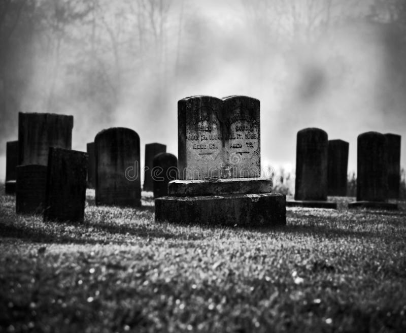 Download Misty graveyard stock image. Image of grave, broken, outdoors - 16879255