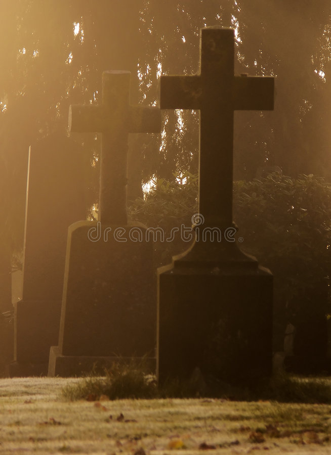 Download Misty Graveyard At Halloween Stock Photo - Image of religion, memorial: 3344430