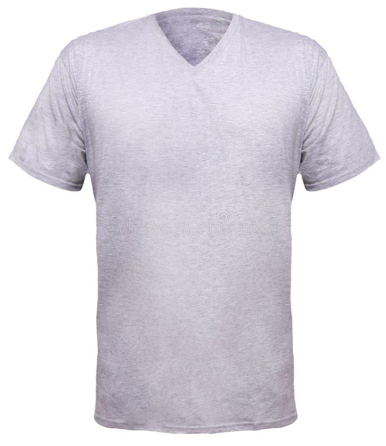 Misty Grey V-Neck Shirt Design Template Stock Photo - Image of ...