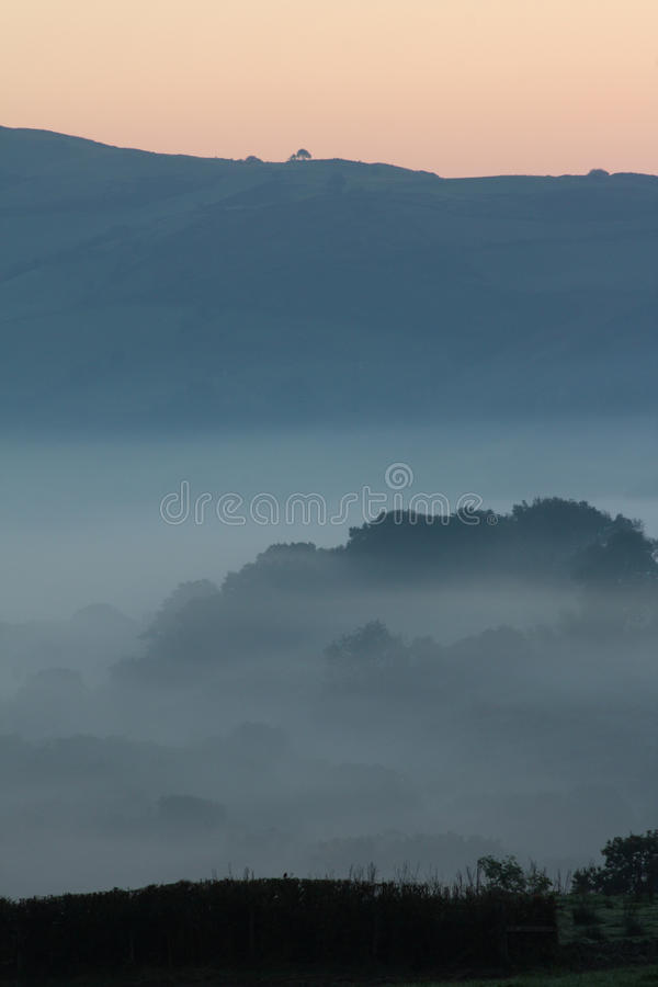Misty Hills At Dawn royalty free stock photography