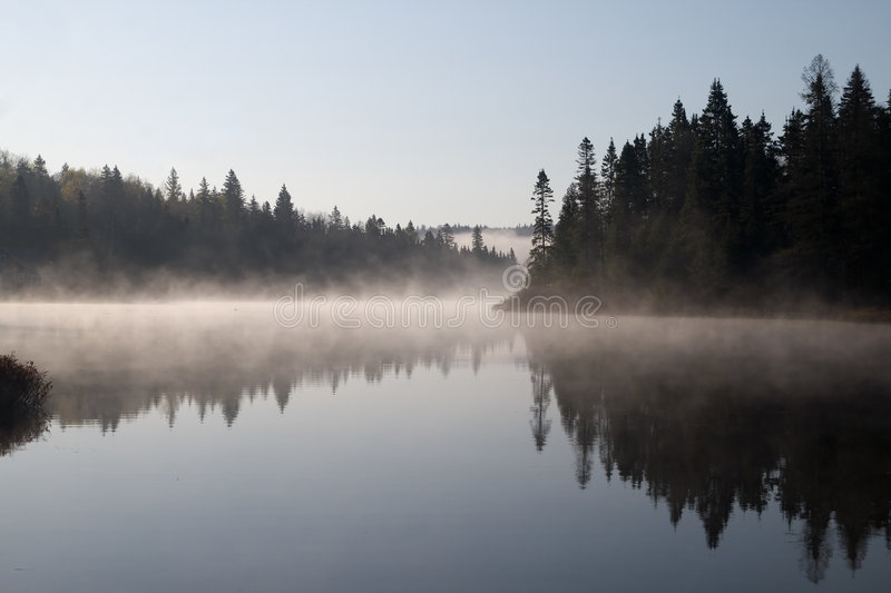 Misty Lake stock photography