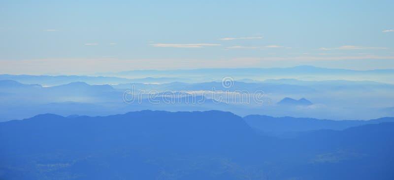 Misty landscape stock images