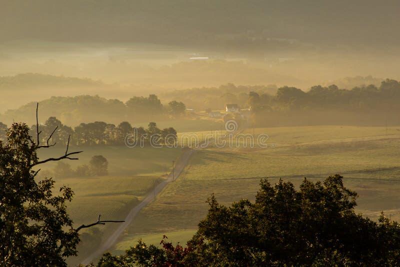 Misty Morning dans le pays images libres de droits