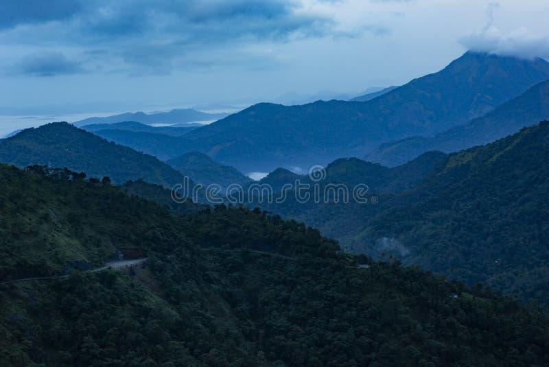 Misty morning Landscape from Vagamon, also spelt Wagamon- Kerala South india royalty free stock images