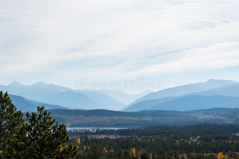Misty morning in the mountains royalty free stock photo