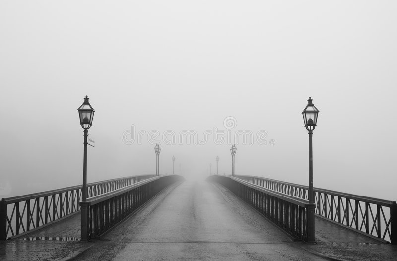 Misty morning in Stockholm stock images