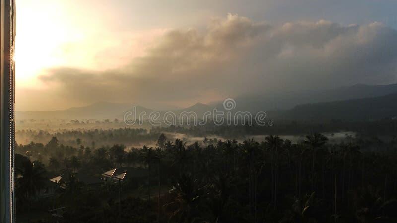 Misty Mountain Sunrise immagine stock
