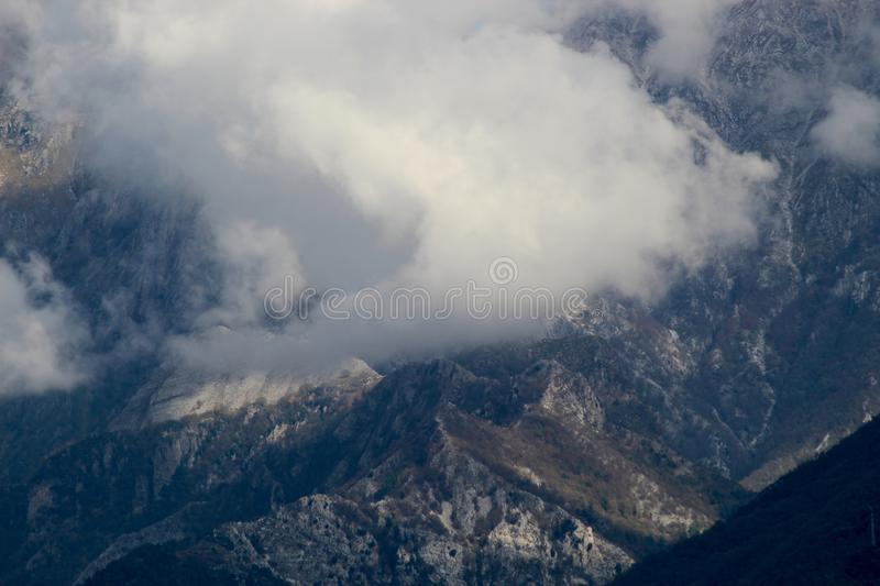 The misty mountains in the morning. royalty free stock images