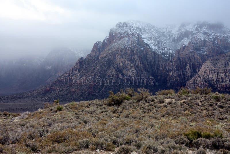 Misty mountaintop stock photography