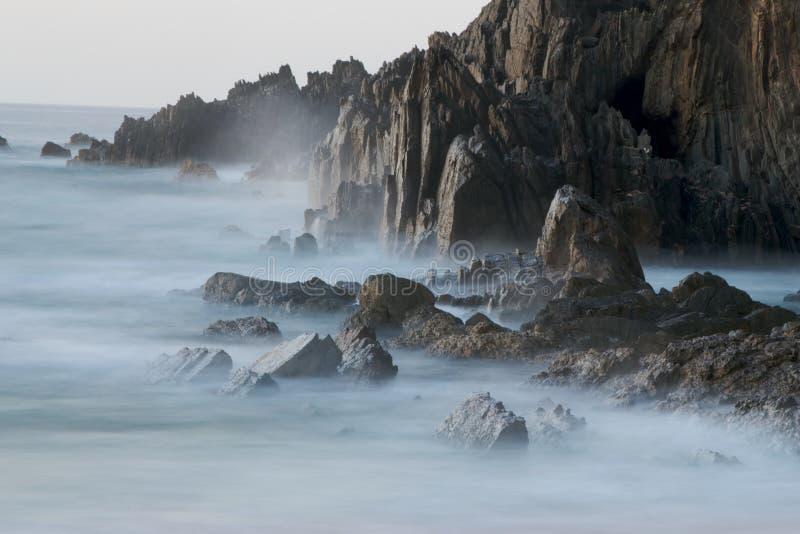 Download Misty Ocean stock photo. Image of rocks, dark, pinnacle - 8819722