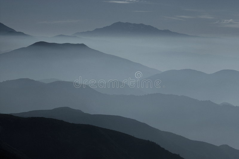Misty ridges royalty free stock images