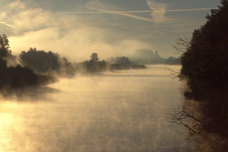 Misty River fotografia stock