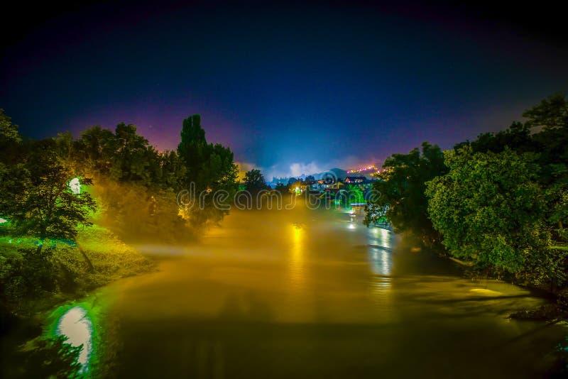 Misty River imagen de archivo libre de regalías