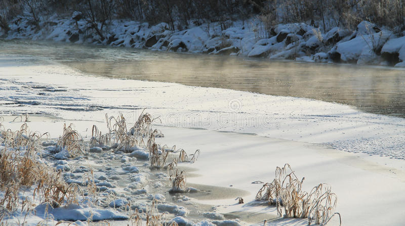Download Misty River In Winter Stock Photo - Image: 83711194