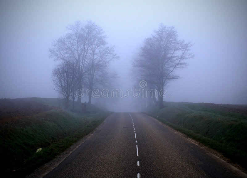 The misty road (2) royalty free stock photo