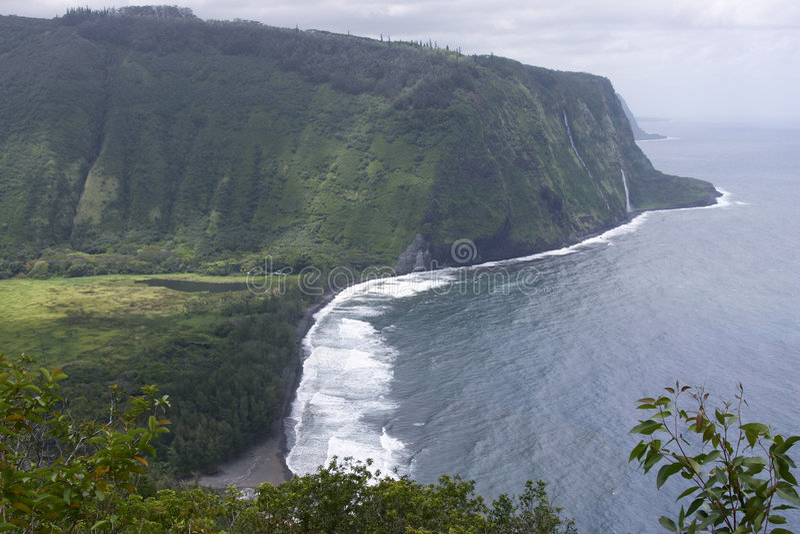 Misty Shoreline Of The Big Island Of Hawaii Royalty Free Stock Photos