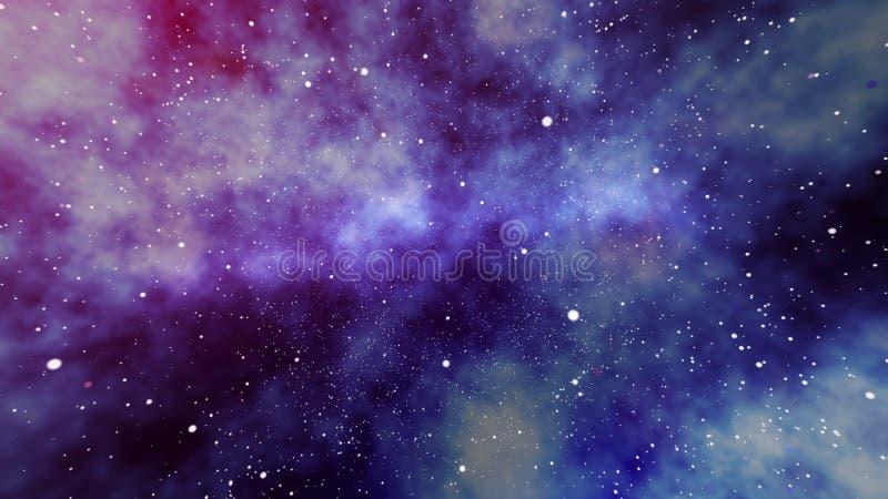 Misty Star Field no universo ilustração do vetor