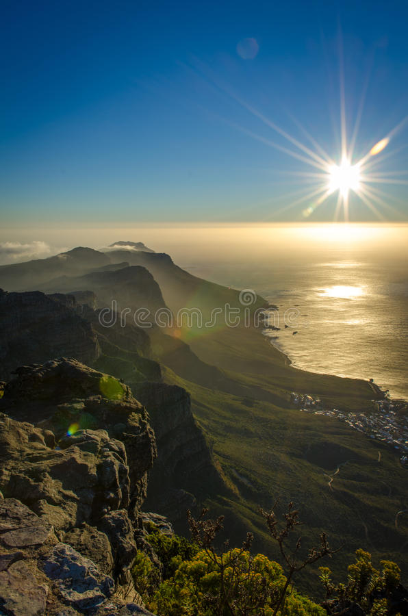 Download Misty Sun set stock photo. Image of mountain, africa - 37450582