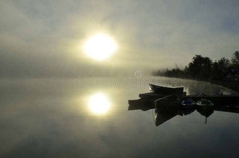 Misty sunrise in spring royalty free stock images