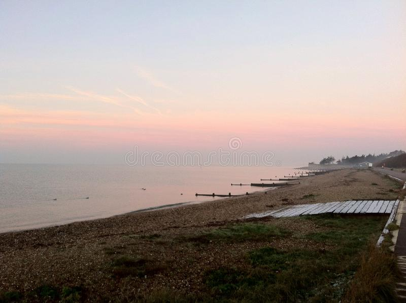 Misty Sunset fotografia stock