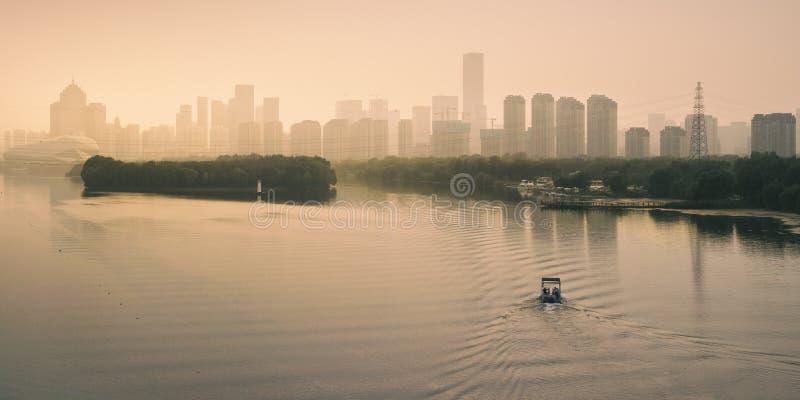 Misty Sunset photographie stock libre de droits