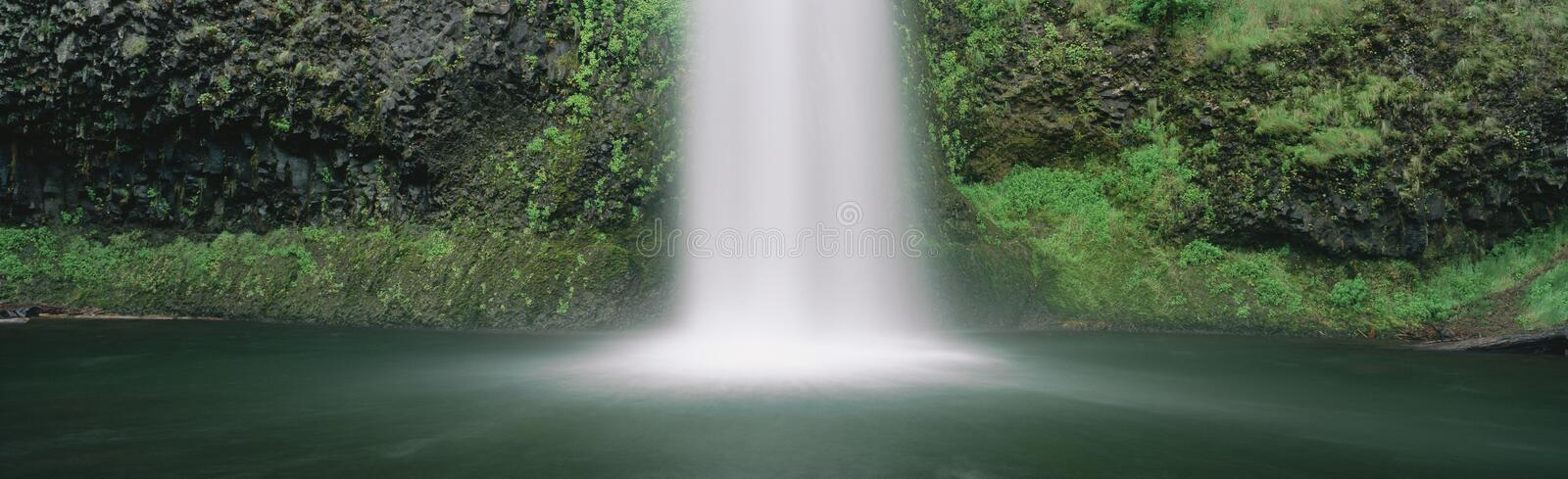 Misty waterfall. In Oregon US stock photography