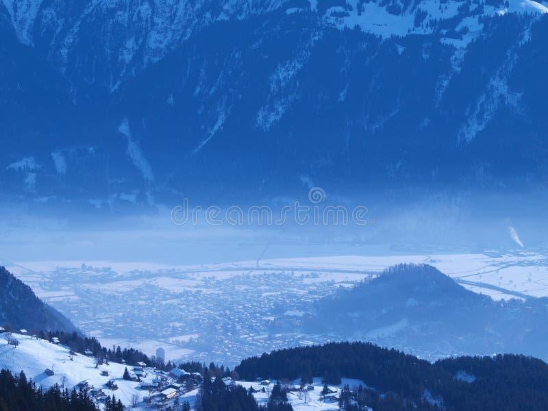 Misty Winter Landscape stock images