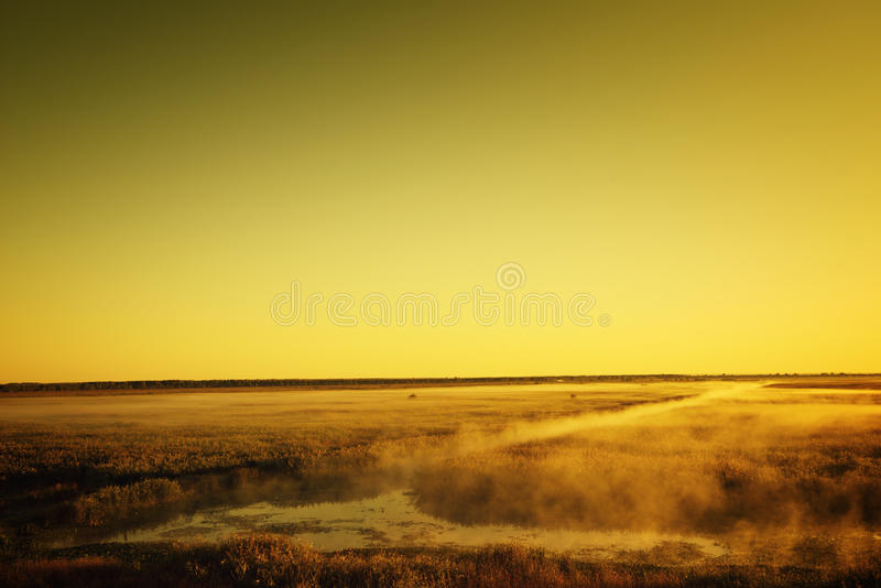 Mistyczka krajobraz obraz stock