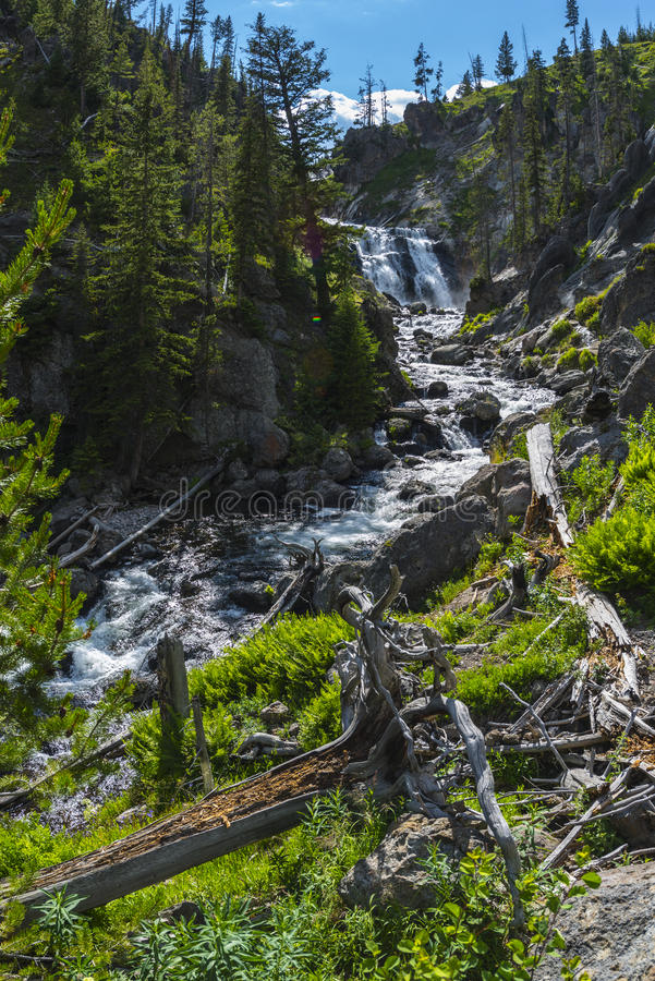 Mistyczka Spada Yellowstone park narodowy obrazy stock